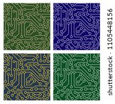 seamless pattern of electronic... | Shutterstock .eps vector #1105448156