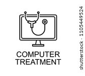 computer treatment outline icon.... | Shutterstock .eps vector #1105449524