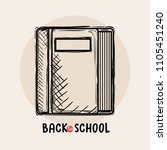 book back to school drawing | Shutterstock .eps vector #1105451240