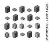 data server set network... | Shutterstock .eps vector #1105451606