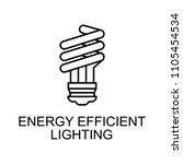 energy efficient lighting... | Shutterstock .eps vector #1105454534