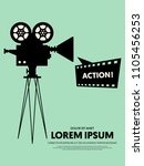movie and film modern retro... | Shutterstock .eps vector #1105456253