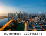 aerial view of singapore... | Shutterstock . vector #1105466843