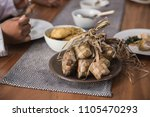 traditional rice cake during... | Shutterstock . vector #1105470293