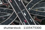 aerial view of highway and...   Shutterstock . vector #1105475300