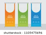 roll up banner stand template... | Shutterstock .eps vector #1105475696