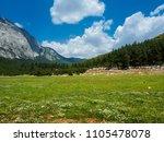 mountains near town kemer ...   Shutterstock . vector #1105478078