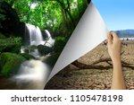 change concept  woman hand... | Shutterstock . vector #1105478198