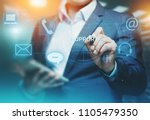 technical support center... | Shutterstock . vector #1105479350