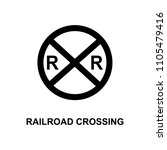 railroad crossing icon. element ... | Shutterstock .eps vector #1105479416