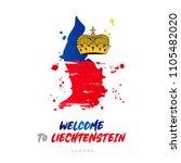 welcome to liechtenstein.... | Shutterstock .eps vector #1105482020