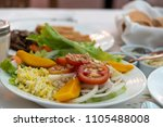 vegetable salad on the table ...   Shutterstock . vector #1105488008