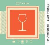 wineglass symbol icon | Shutterstock .eps vector #1105490588