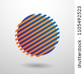 abstract circle logo with... | Shutterstock .eps vector #1105492523