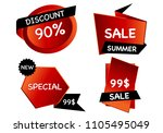 summer sale set isolated vector ... | Shutterstock .eps vector #1105495049