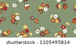 seamless floral pattern. small... | Shutterstock .eps vector #1105495814
