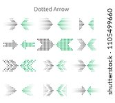 dotted arrow in grey and green  ... | Shutterstock .eps vector #1105499660
