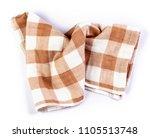 crumpled orange brown checkered ... | Shutterstock . vector #1105513748