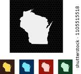 map of wisconsin   Shutterstock .eps vector #1105515518