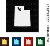 map of utah   Shutterstock .eps vector #1105515524