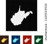 map of west virginia | Shutterstock .eps vector #1105515533