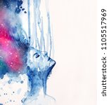 watercolor paint for symbol of... | Shutterstock . vector #1105517969