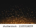 vector realistic isolated fire... | Shutterstock .eps vector #1105518059