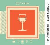 wineglass symbol icon | Shutterstock .eps vector #1105520870