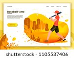 vector illustration   young... | Shutterstock .eps vector #1105537406