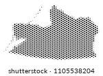 hex tile kaliningrad region map....   Shutterstock .eps vector #1105538204