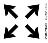 arrow sign set isolated vector | Shutterstock .eps vector #1105548218