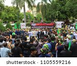 Small photo of BANGKOK, THAILAND - June 5, 2018: Non-Government Organizations are staging outside Government House to insist the ban of the pesticide of paraquat and chlorpyrifos which impact to the quality of life.