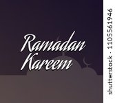 islamic background.ramadan... | Shutterstock . vector #1105561946