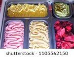 delicious ice cream of...   Shutterstock . vector #1105562150