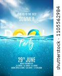 summer pool party poster... | Shutterstock .eps vector #1105562984