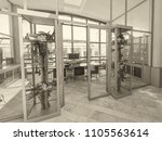 glass wall in the office... | Shutterstock . vector #1105563614