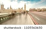 london. blurred moving people... | Shutterstock . vector #1105563650