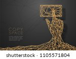 hand touch screen smartphone... | Shutterstock .eps vector #1105571804