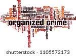 organized crime word cloud... | Shutterstock .eps vector #1105572173