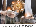 ripple and cryptocurrency...   Shutterstock . vector #1105584686