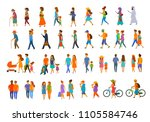 graphic collection of people... | Shutterstock .eps vector #1105584746