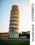 leaning tower of pisa in pisa ... | Shutterstock . vector #1105588073