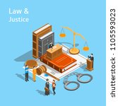 law justice composition concept ... | Shutterstock .eps vector #1105593023