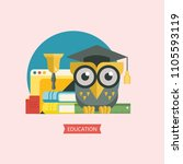 welcome back to school. a wise... | Shutterstock .eps vector #1105593119