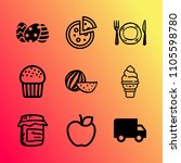 vector icon set about food with ...   Shutterstock .eps vector #1105598780
