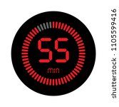the 55 minutes  stopwatch... | Shutterstock .eps vector #1105599416