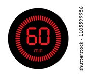 the 60 minutes  stopwatch... | Shutterstock .eps vector #1105599956