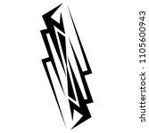 tribal pattern tattoo vector... | Shutterstock .eps vector #1105600943