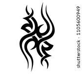 tribal pattern tattoo vector... | Shutterstock .eps vector #1105600949