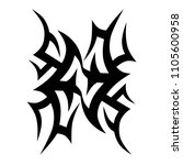tribal tattoo vector designs... | Shutterstock .eps vector #1105600958